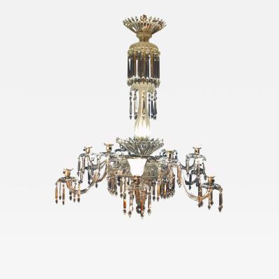 Monumental 19th Century Crystal Lalique Style Neoclassical Chandelier