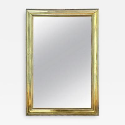 Monumental 19th Century French Brass Mirror