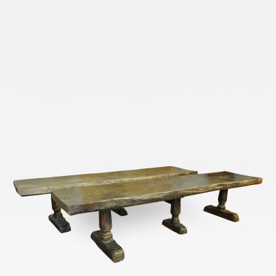 Monumental And Very Rare Pair Of 16th Century Spanish Castle Tables