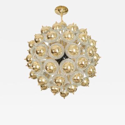Monumental Brass Sputnik Style Chandelier