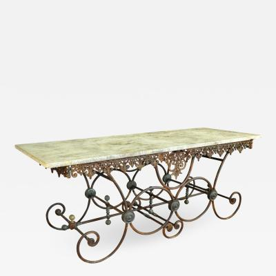 Monumental French 19th Century Butchers Table