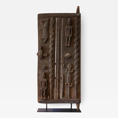 Monumental Hardwood African Granary Door Circa 18th Century