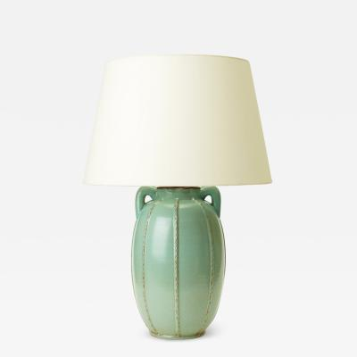 Monumental Jugend style table lamp by Andersson Johansson Pottery