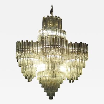 Monumental Lucite Ballroom Chandelier