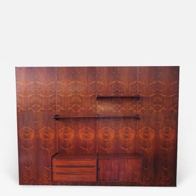 Monumental Midcentury Rosewood Wall Display Unit