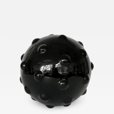Monumental Obsidian Mine Sphere Sculpture
