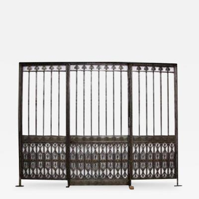 Monumental Oscar B Bach Gates from Bank of NY Trust Co
