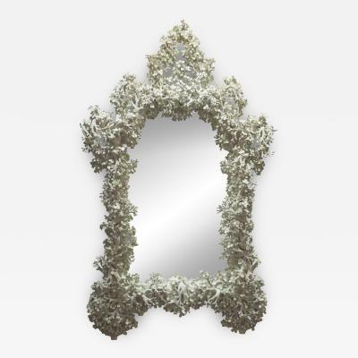 Monumental Plaster Mirror France 1970s