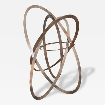 Monumental Plated Iron Intersecting Sculpture