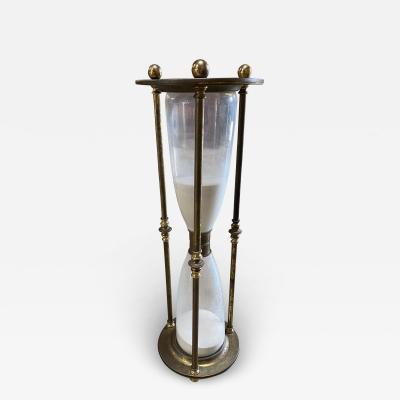 Monumental Scale Italian Walnut Hour Glass 1900