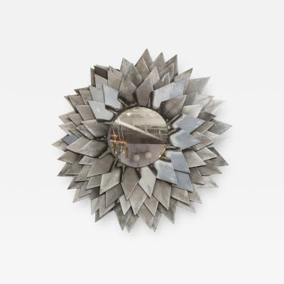 Monumental Zinc Flower Petal Mirror