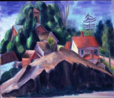 Konrad Cramer Landscape with Cliff 1918 20
