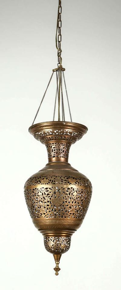 Moorish Brass Hanging Light Fixture