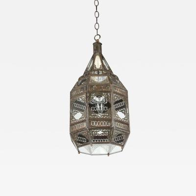 Moorish Moroccan Clear Glass Lantern