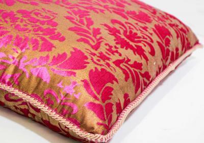 Moorish Oversized Pink and Gold Floor Pillow Cushion