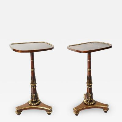 Morel and Seddon Regency Parcel Gilt Rosewood Side Tables