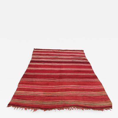 Moroccan Flat Weave Vintage Rug