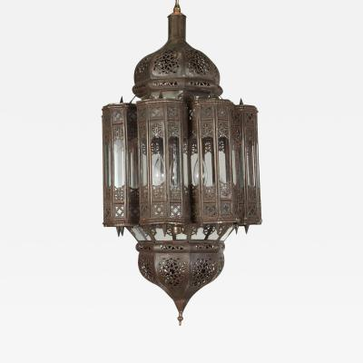 Moroccan Hand Crafted Mamounia Light Fixture Clear Glass