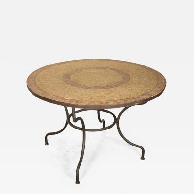 Moroccan Marble and Stone Mosaic Table Indoor or Outdoor