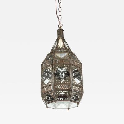 Moroccan Moorish Clear Glass Lantern