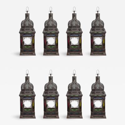 Moroccan Moorish Glass Candle Lanterns