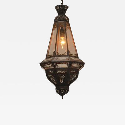 Moroccan Moorish Harem Lantern in Clear Glass