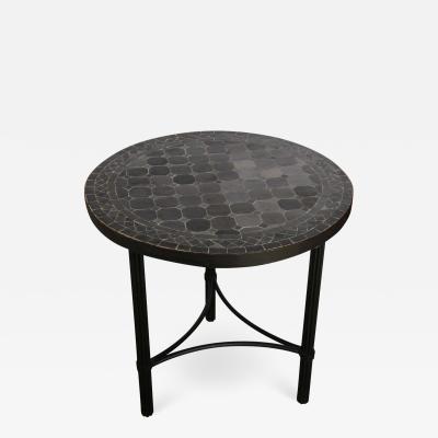Moroccan Mosaic Black Color Bistro Table