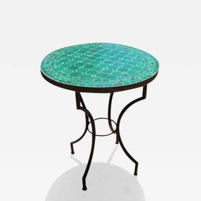 Moroccan Mosaic Emerald Green Tiles Bistro Table