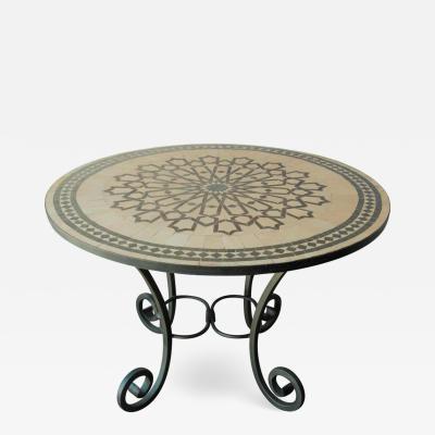 Moroccan Mosaic Outdoor Tile Table in Fez Moorish Design
