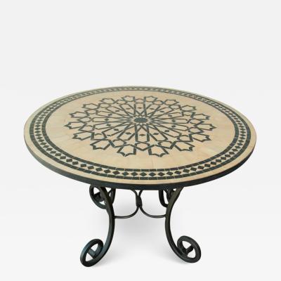 Moroccan Mosaic Tile Table in Fez Moorish Design
