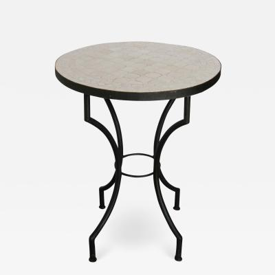 Moroccan Mosaic Tiles Ivory Color Bistro Table