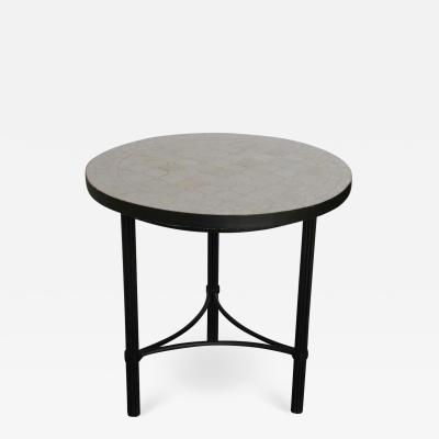 Moroccan Mosaic Tiles Off White Color Side Table