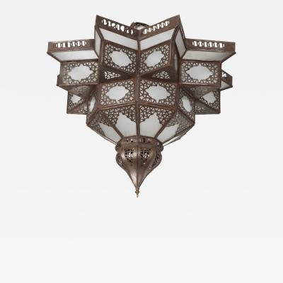 Moroccan Star Shape Frosted Glass Light Shade