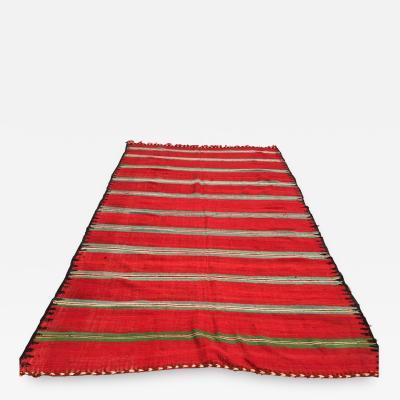 Moroccan Vintage Flat Weave Rug