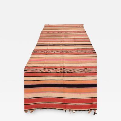 Moroccan Vintage Flat Weave Stripe Rug