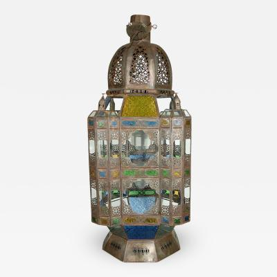 Moroccan Vintage Glass Lantern from Marrakech