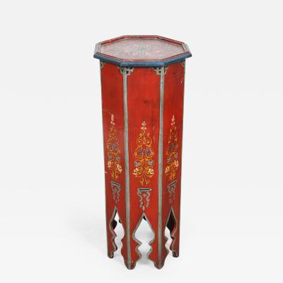 Moroccan Vintage Pedestals Red Table
