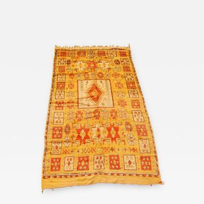 Moroccan Vintage Tribal Orange Rug