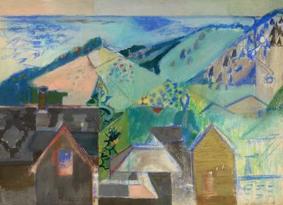 Morris M Shulman Monhegan Village Abstraction