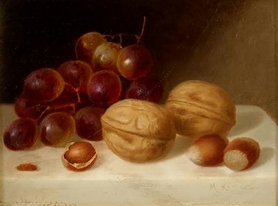 Morston Constantine Ream Still Life with Walnuts and Grapes
