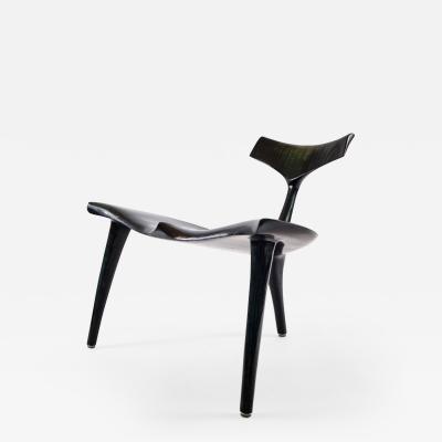 Morten Stenbaek Black Ash Whale Chair MS82 Handcrafted and Designed by Morten Stenbaek