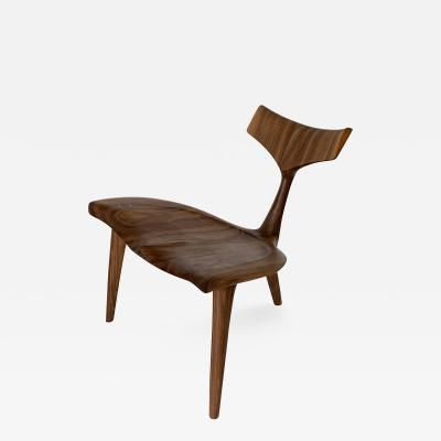 Morten Stenbaek Sculptural Walnut Whale Chair Morten Stenbaek
