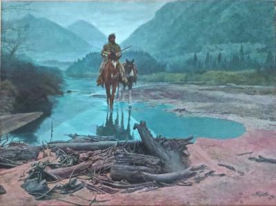 Morton Kunstler Mort Kunstler b 1931 Morning Mist 1981 Oil on Canvas