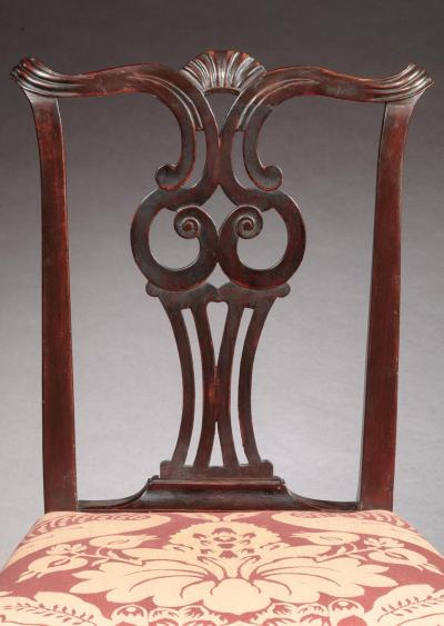 Moses Black Pair of Chippendale Side Chairs