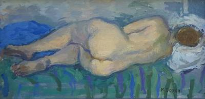 Moses Soyer Moses Soyer Reclining Nude Female Oil Painting