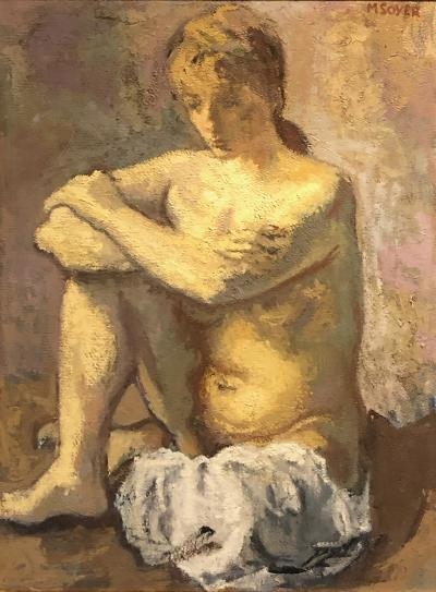 Moses Soyer Seated Nude