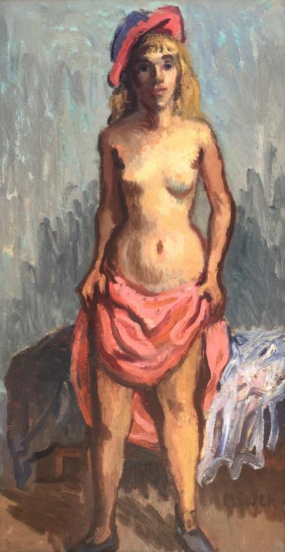 Moses Soyer Woman in Pink