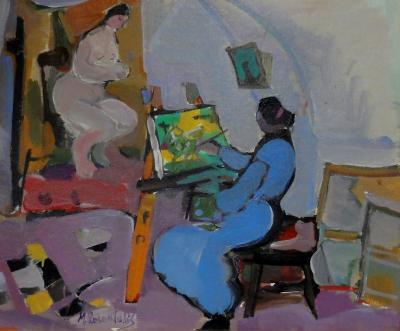 Moshe Rosenthalis The Artist and Her Model