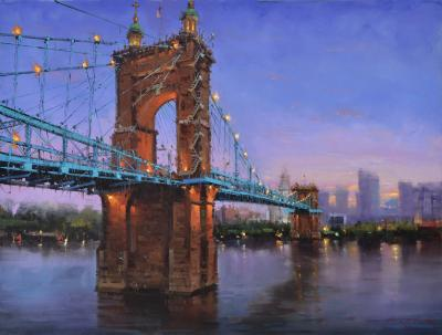 Mostafa Keyhani Roebling Bridge at Night