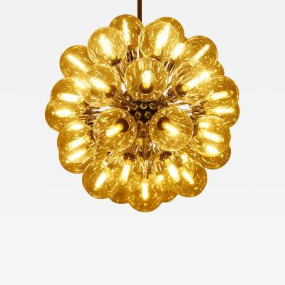 Motoko Ishii Large Chandelier by Motoko Ishii for Staff 1970s